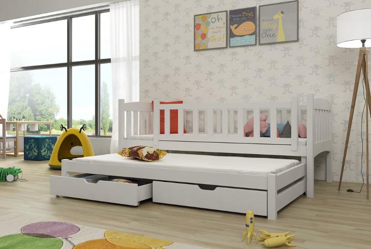 Drewniane łóżko Piętrowe Sara 4 Meblinecouk